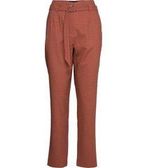 6253 - aileen high pantalon met rechte pijpen oranje sand