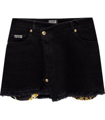 raw edge denim rok