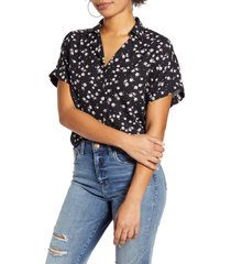 women's all in favor button back top