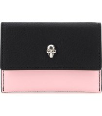 alexander mcqueen multicolor skull card holder pouch