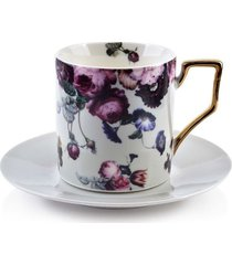 filiżanka porcelanowa flora white