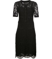 adam lippes tailored lace dress - black
