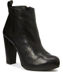 high heeled boots shoes boots ankle boots svart shoe biz