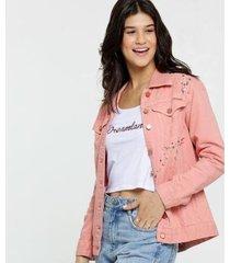 jaqueta zune jeans sarja pedraria by sabrina sato feminina