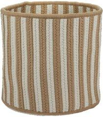 colonial mills baja stripe braided storage basket