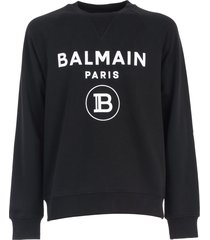 balmain flock sweater