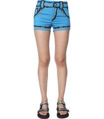 moschino cotton stretch shorts