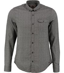 garcia stevig slim fit overhemd grey khaki