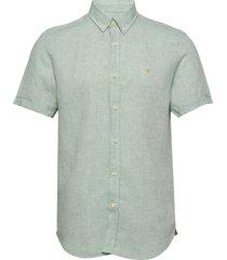 douglas ss linen shirt kortärmad skjorta grön morris