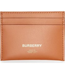 burberry horseferry print leather card case - brown