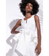 akira one more time sleeveless blouse with bow