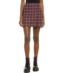women's bp. plaid skirt