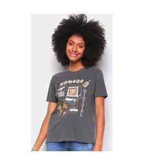 camiseta t-shirt cantão slim nomade digital feminina
