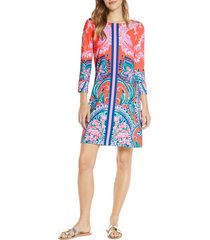 women's lilly pulitzer sophie upf 50+ shift dress, size small - orange