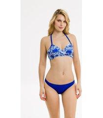 bikini azul mare moda amapola