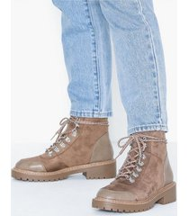 only onlbold lace up winter bootie flat boots