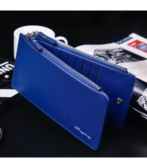 billetera, bolso de tarjeta de visita cruzada cartera-azul