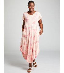 lane bryant women's tie-dye active maxi dress 22/24 peach breeze