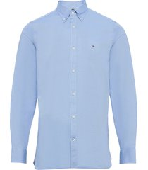 slim flex essential dobby shirt overhemd business blauw tommy hilfiger