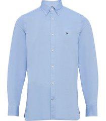 slim flex essential dobby shirt overhemd business blauw tommy hilfiger