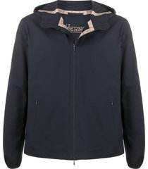 herno bonded-seam hooded jacket - blue