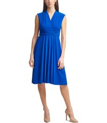jessica howard petite ruched fit & flare dress