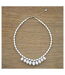 cultured pearl strand necklace, 'lustrous glow' (thailand)