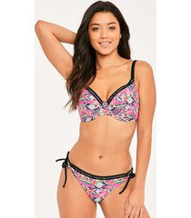 texas rose underwire plunge bikini top