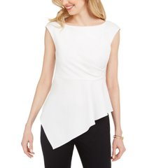 adrianna papell petite asymmetrical top