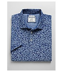 1905 collection tailored fit palm leaf short-sleeve men's polo shirt - big & tall