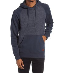 men's billabong balance hoodie, size small - blue