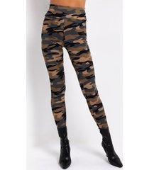 akira for the love camo high waist rib leggings