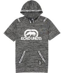 men's short sleeve tape hoodie
