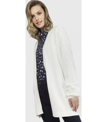 cardigan nautica blanco - calce regular