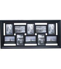 porta retrato minas de presentes 10 fotos 10x15cm preto