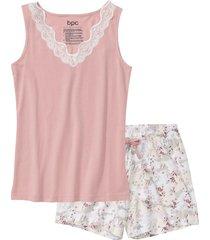 pigiama estivo con pizzo (rosa) - bpc bonprix collection