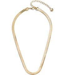 women's baublebar gia herringbone chain collar necklace