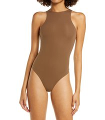 skims fits everybody high neck bodysuit, size xx-small in oxide at nordstrom
