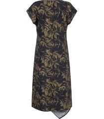jurk 100% linnen in asymmetrisch model van anna aura zwart