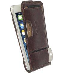 funda krusell para iphone 6s / iphone 6  -ekero flexi flip wallet classic -café