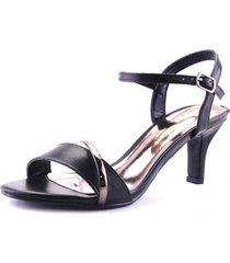 sandalia alastic negro chalada