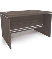 mesa secretã¡ria 1,20mt carvalho frances de madeira kappesberg cinza - marrom - dafiti