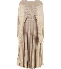 stella mccartney ribbed lurex knit dress
