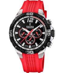 reloj festina modelo f20523/7 rojo hombre