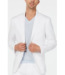 alfani men's herringbone stretch linen blazer, created for macy's