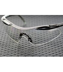 nike pursue clear replacement sunglass lens shield w/ black bridge piece eva052