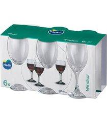 jogo de taças nadir windsor vinho com 6 peças 250ml