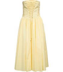 philosophy di lorenzo serafini yellow cotton bustier dress