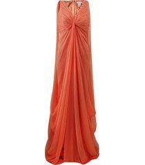 full drape chiffon gown