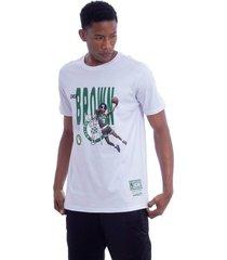 camiseta mitchell & ness all star boston celtics dee brown branca - branco - masculino - dafiti